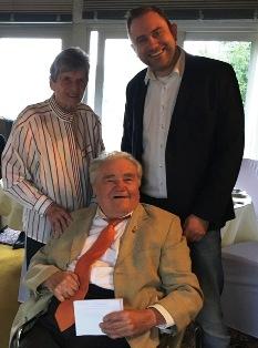 Wilma und Kurt Haas, OV Vorsitzender Uwe Presler